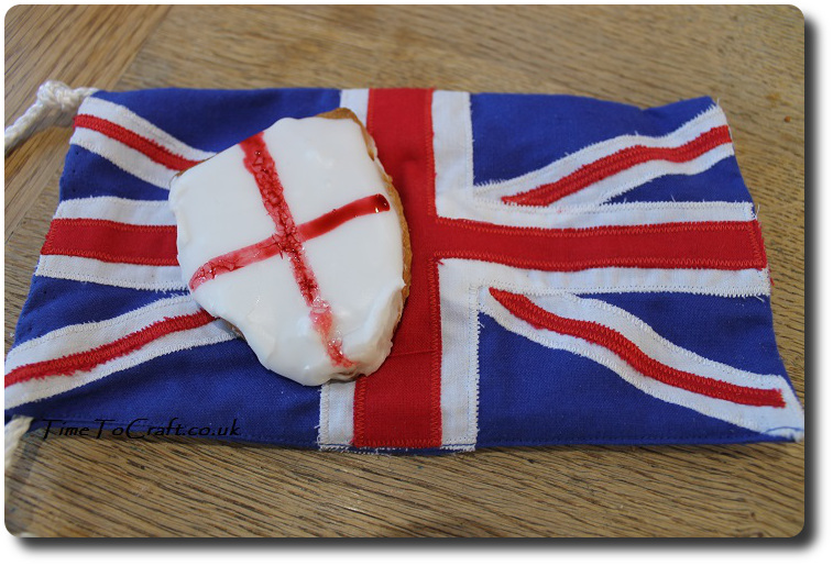 British flag and St George Day biscuit
