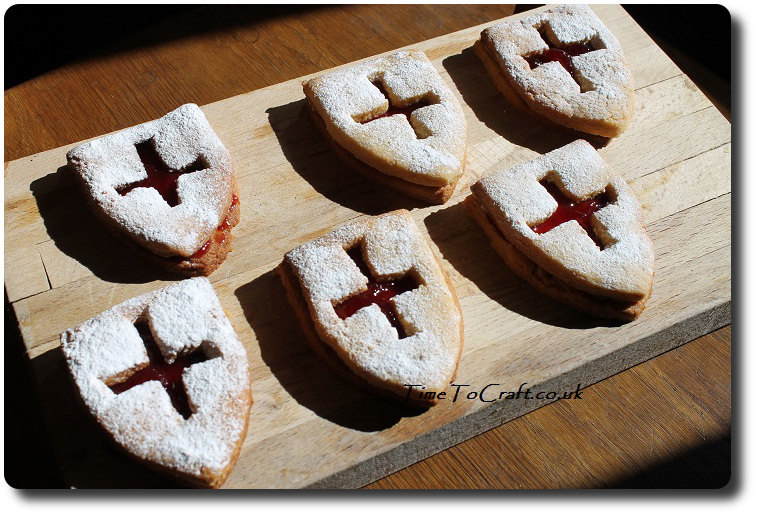 Jammy Dodger St George Day biscuits