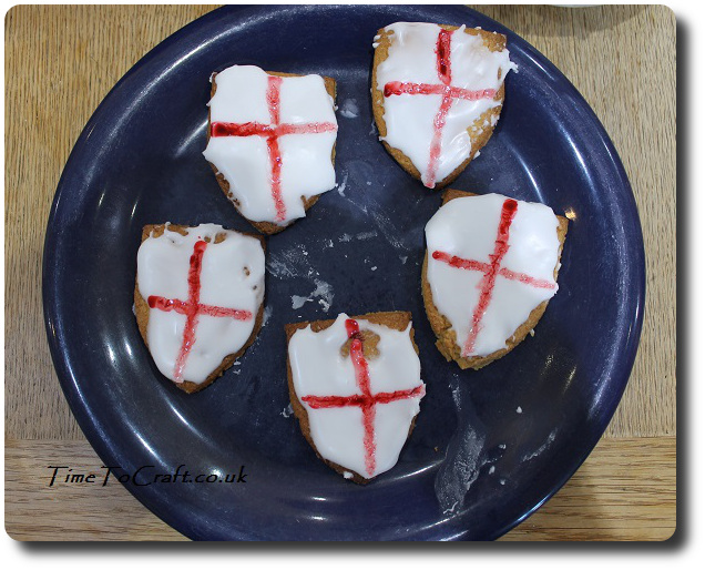 Painted St George Day biscuits children craft