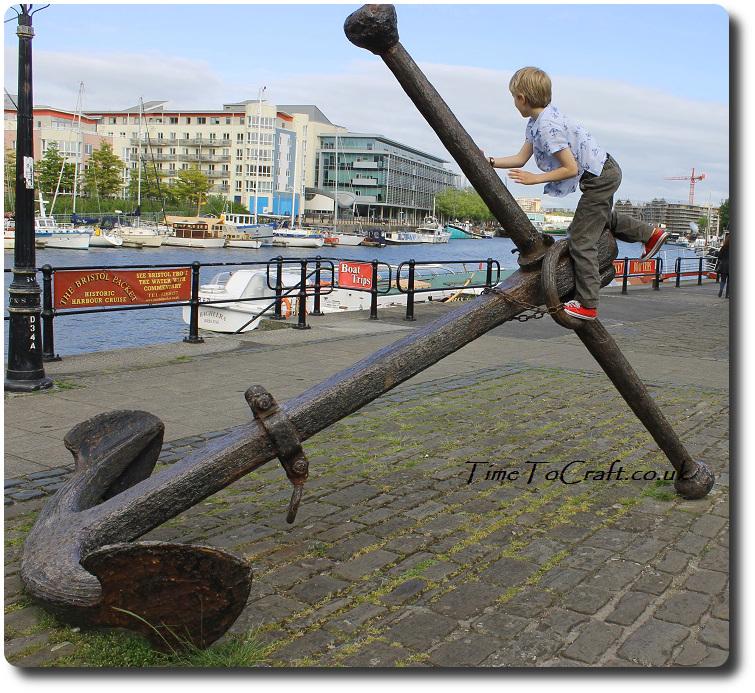 Boy shirt handmade anchor at SS Great Britain Bristol