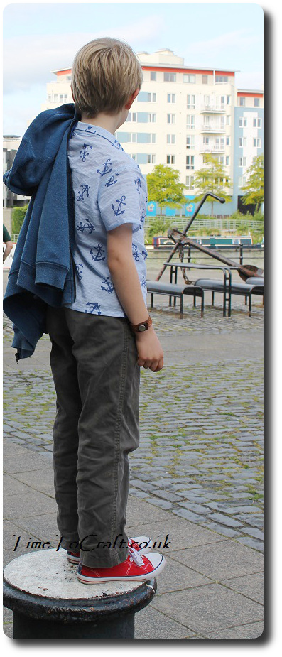 Boy shirt handmade front at Bristol water side 3