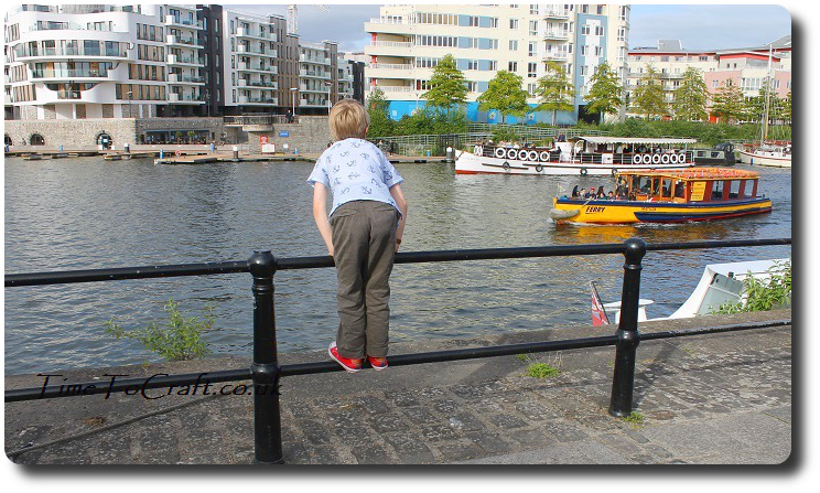 Boy shirt handmade front at Bristol water side