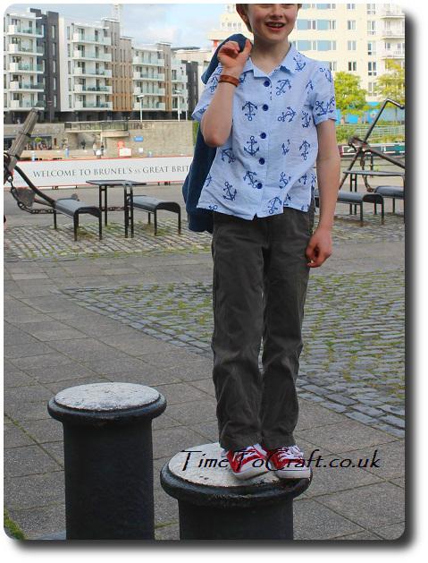 Boy shirt handmade front at SS Great Britain Bristol