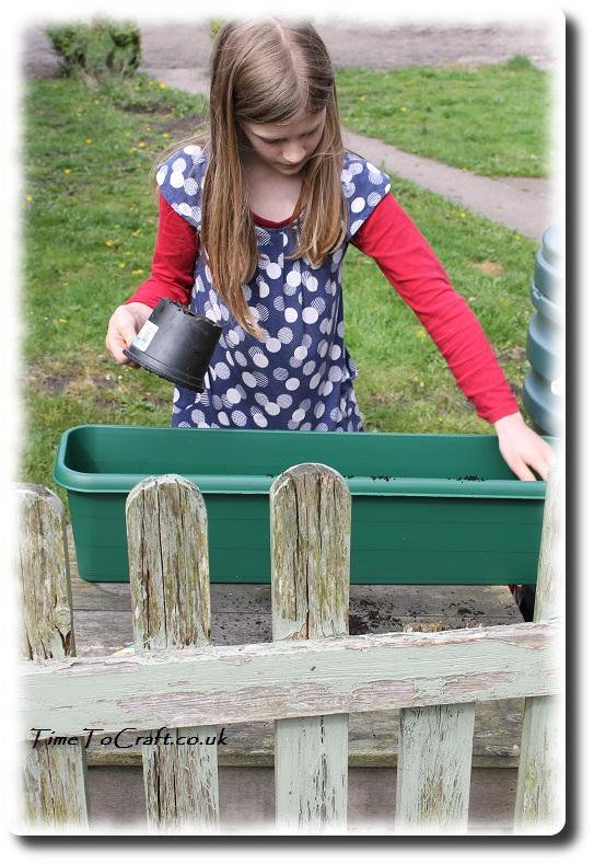 children gardening planter project