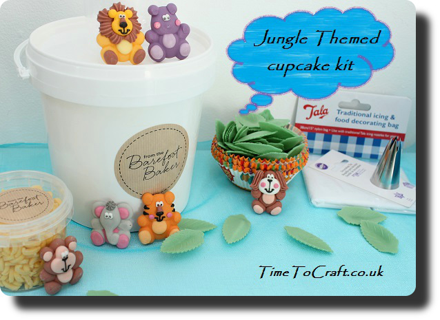 jungle animal party cupcake set contents2