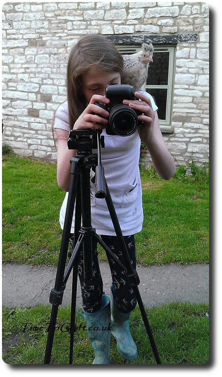 AJ photographer and hen