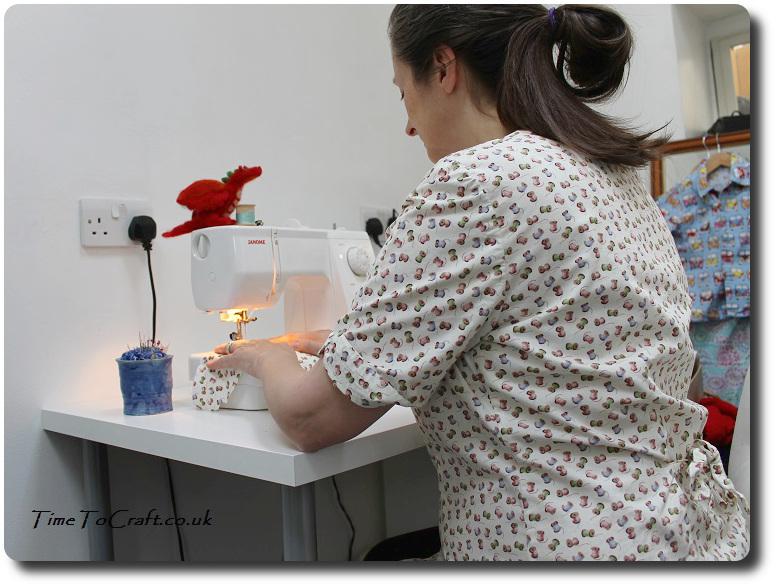 sewing and bobbin blouse handmade