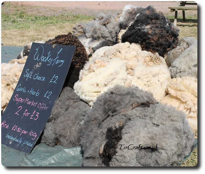 sheared fleeces at Wookey