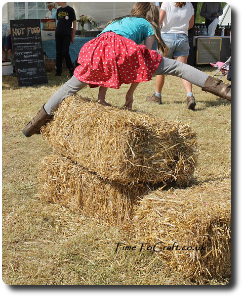 vaulting straw bales