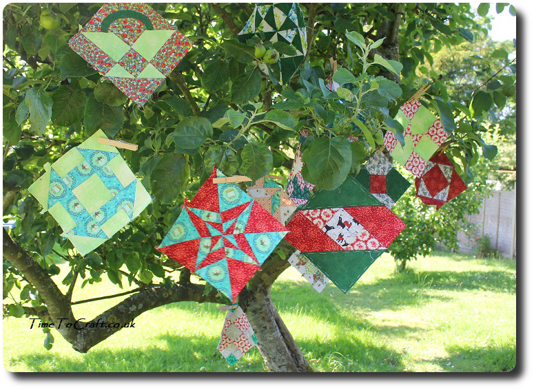 Farmer's wife quillt blocks in apple tree