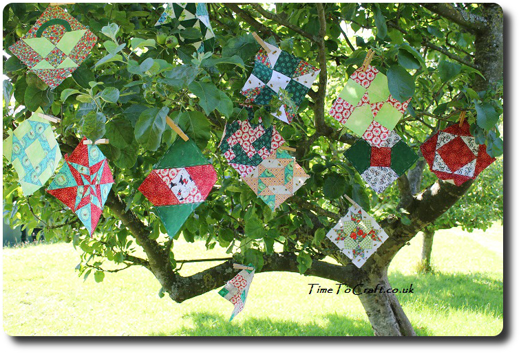 More Farmer's wife quillt blocks in apple tree