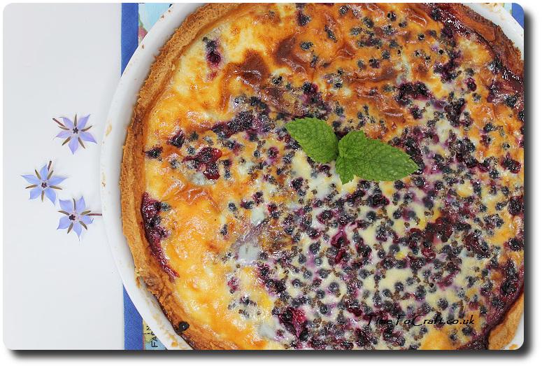 blackcurrant and custard tart