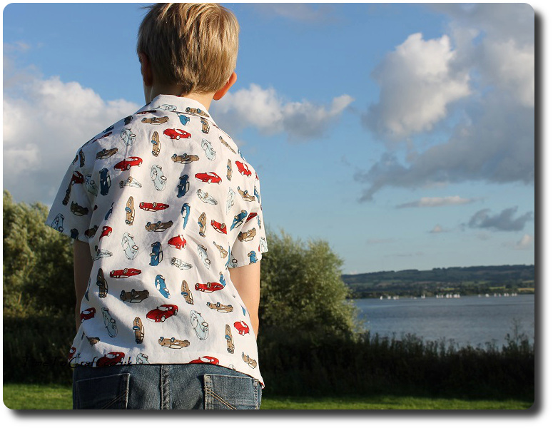 homemade boy shirt back 2 Simplicity 5581