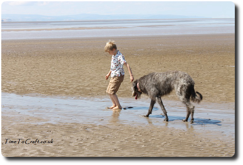 The boy and the Pup on Burnham beach