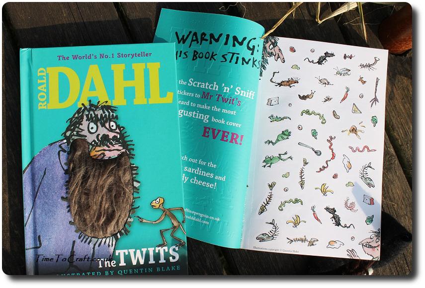 Roald Dahl The Twits hairy beard and stinky book inside