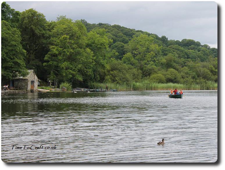 Rowing on Esthwaite Lake family
