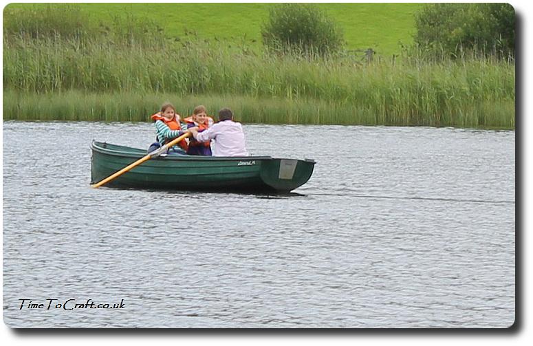girls learning to row together on Esthwaite Lake