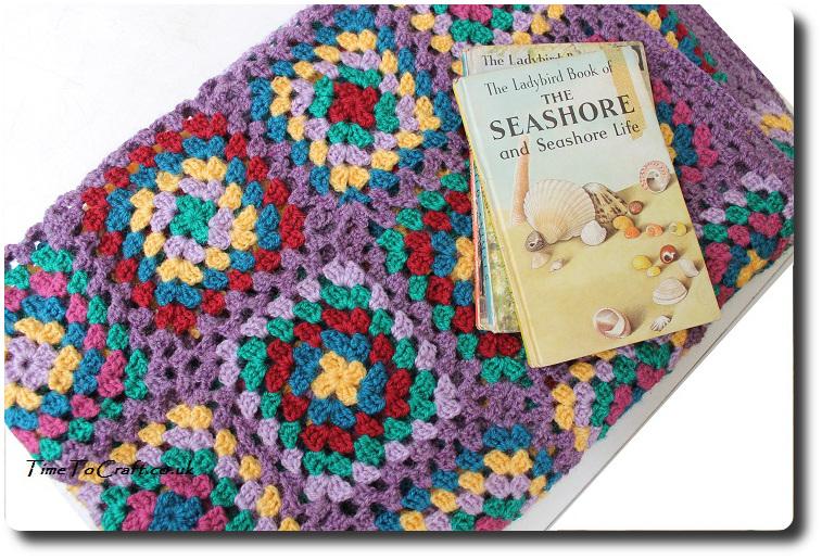 granny square crochet blanket complete