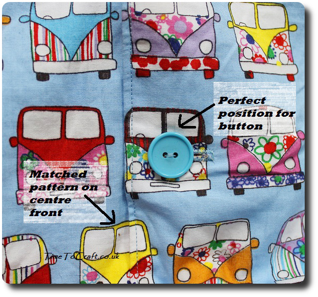 vw camper van shirt detail