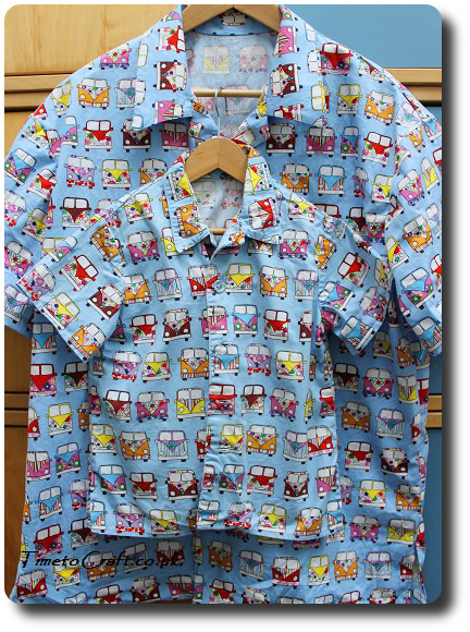 vw camper van shirt man and boy version
