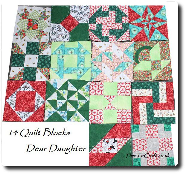 Dear Daughter Quilt blocks 14
