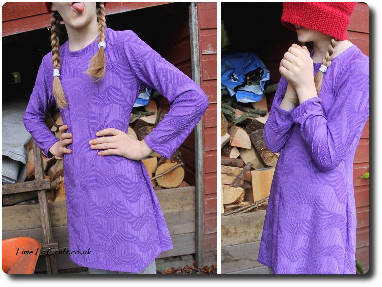 Purple tunic Simplicity 2156 pumpkins outakes