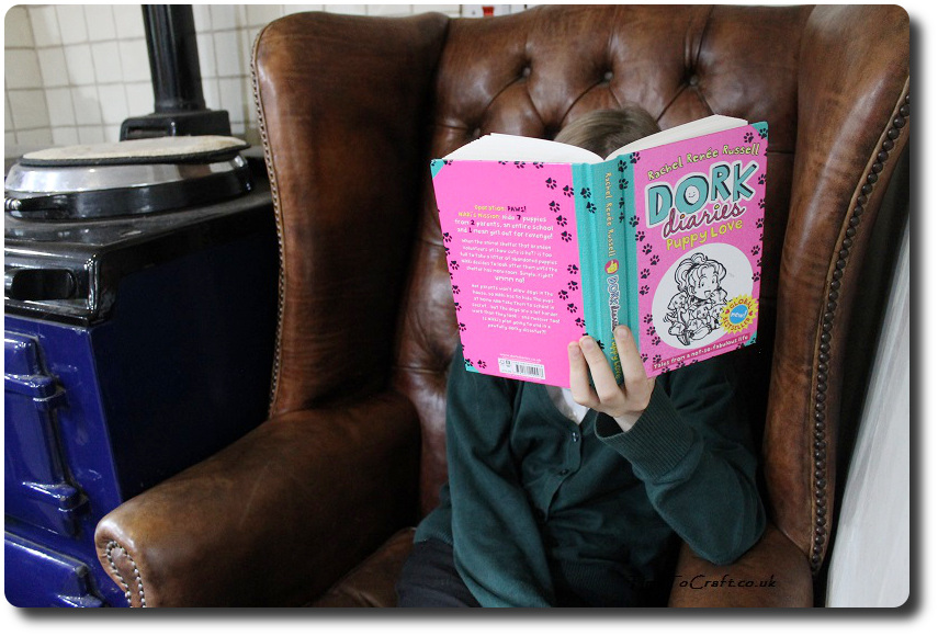 reading Dork Diaries Puppy Love
