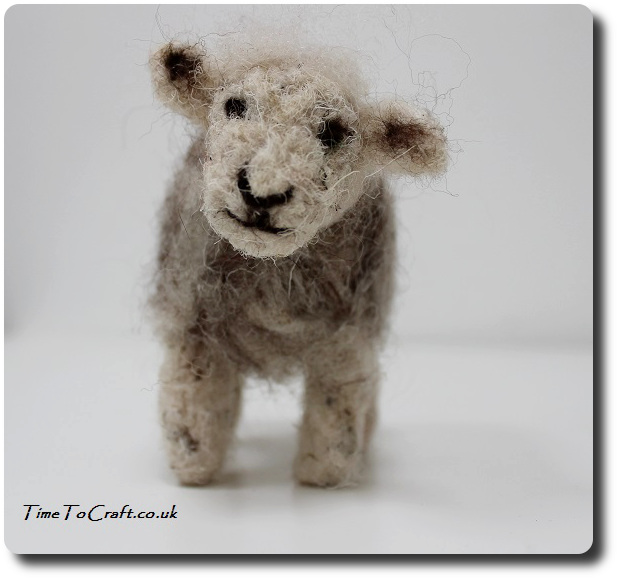 needle felted herdwick sheep face