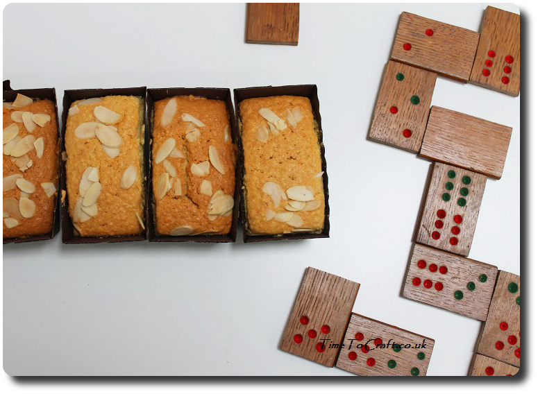 almond cake and a game of dominos