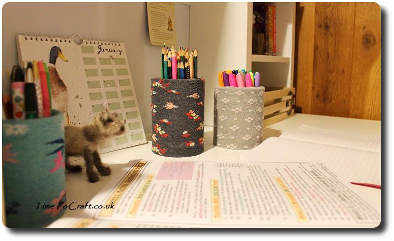 no sew desk organizer on desk pen holders diy