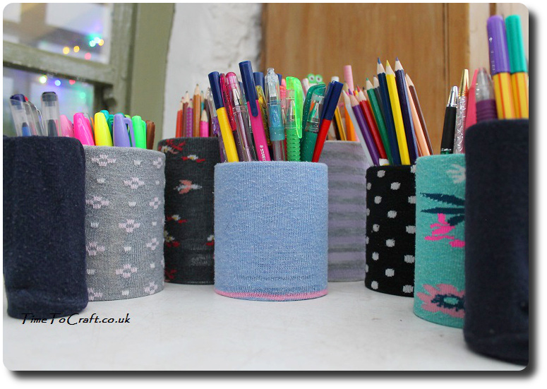 Diy Pencil Holder How To Make A Cheap Thrifty Desk Tidy Pen Holder