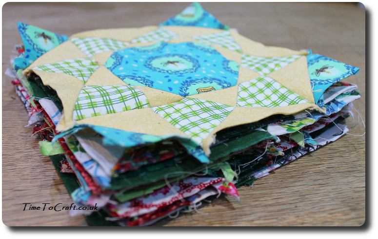 pile of quilt blocks Dear Daughter Farmers wife letters