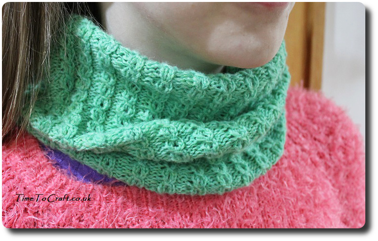 soft as a cloud cowl knitted side