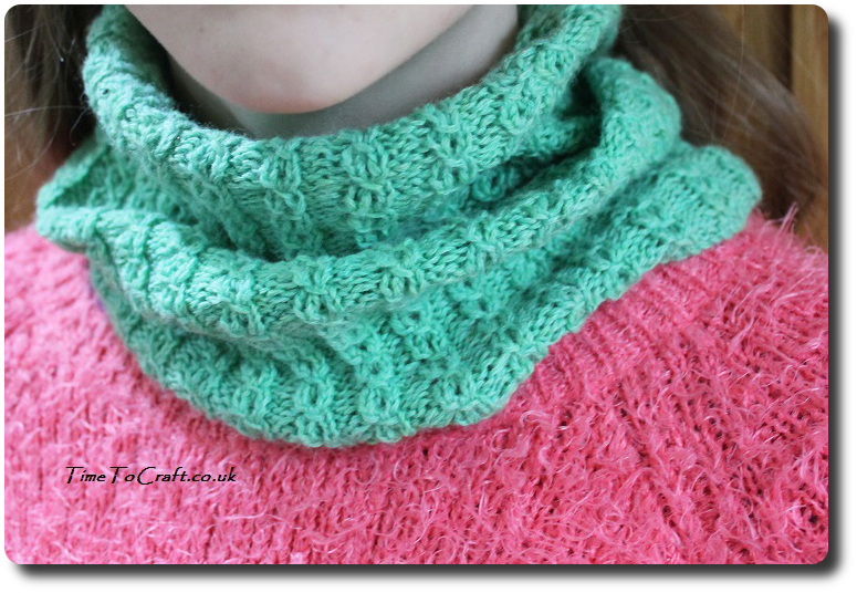 soft as a cloud cowl knitted