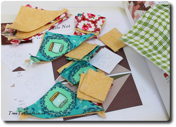 english paper piecing quilt block jumble