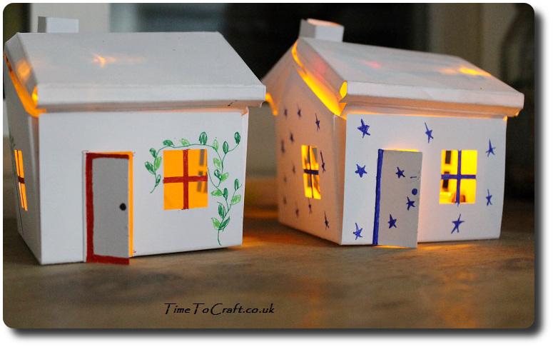 glowing house set finished