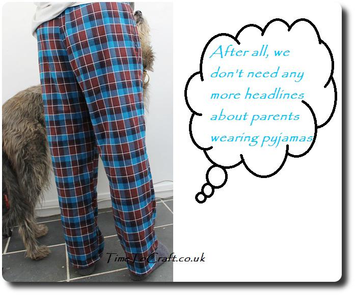 homemade men's pyjamas McCall's 4244 and dog 3