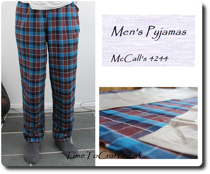 homemade men's pyjamas McCall's 4244