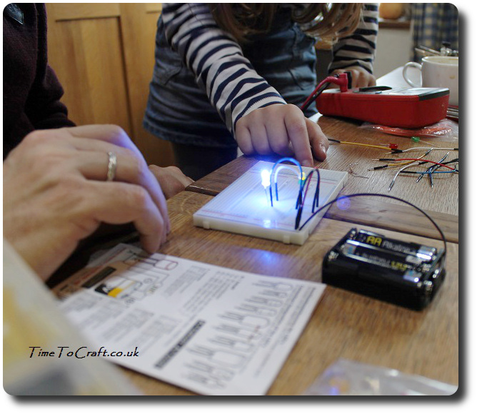 learning about electronics circuits STEM Education activity family