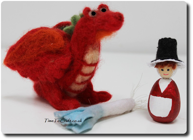 St Davids Day dragon peg doll and leek craft activity