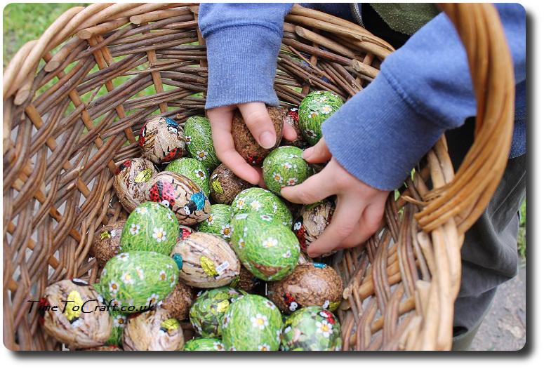 basket of easter egg hunt