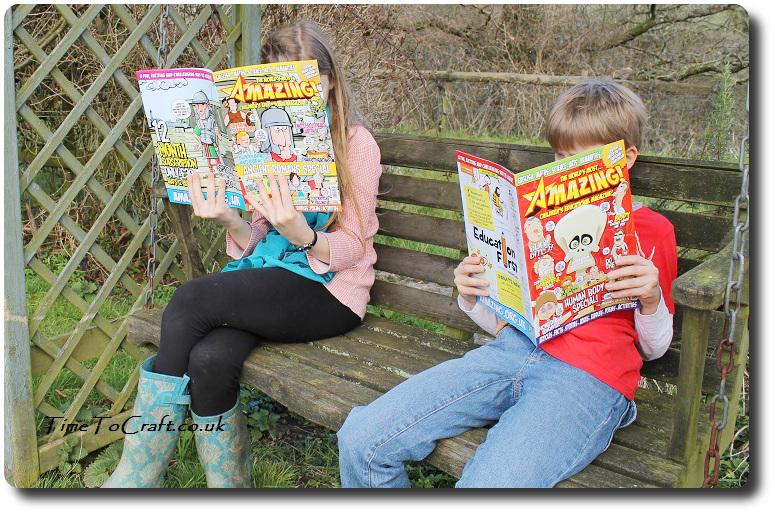reading Amazing magazine