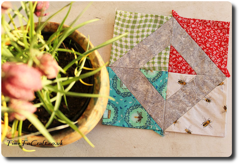 Friendship no 39 The Farmer's Wife quilt with plant