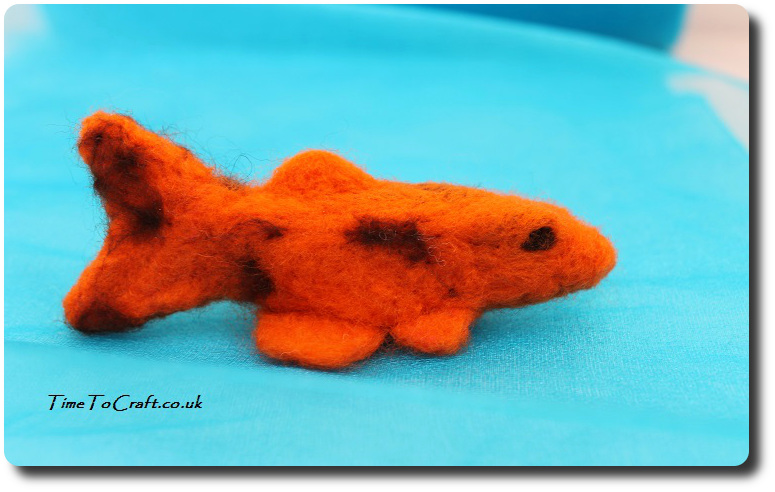needlefelted Koi Carp orange and brown