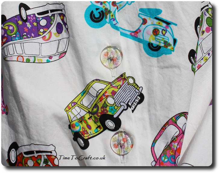 buttons of retro car blouse