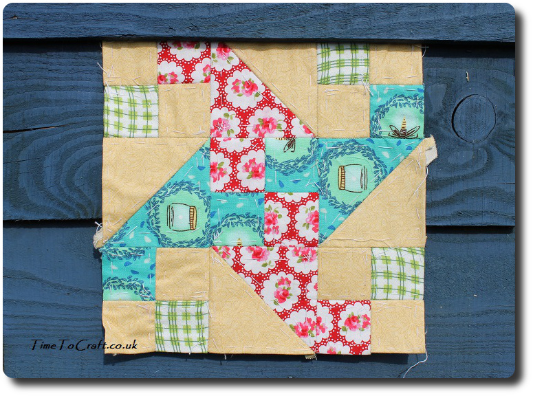 waterwheel no 98 Farmers wife quilt blue