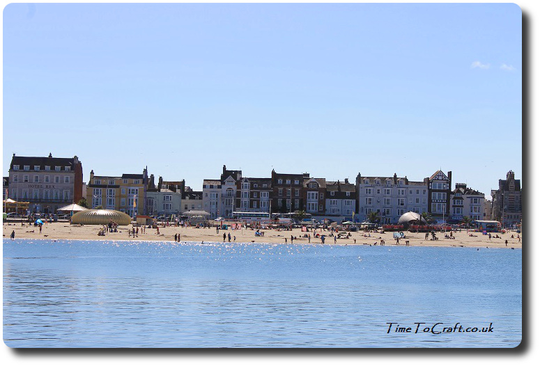 Looking back at Weymouth sea front