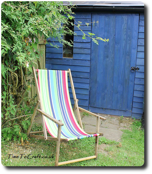 deckchair by the shed