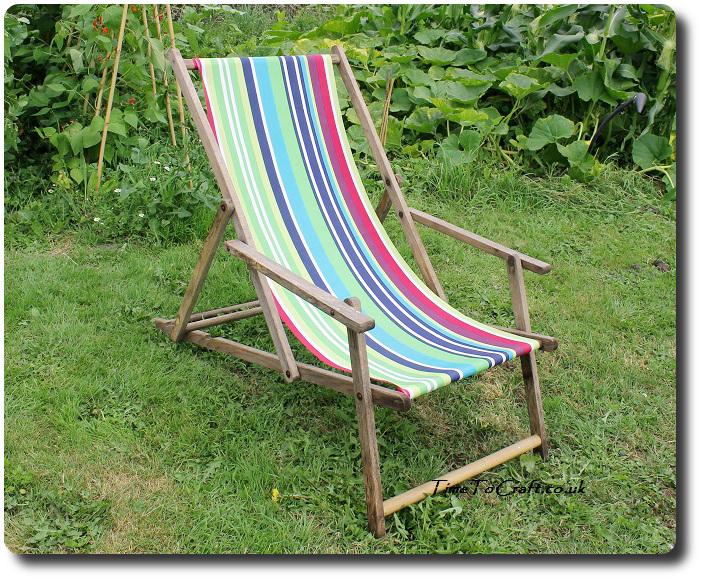 deckchair in the kitchen garden