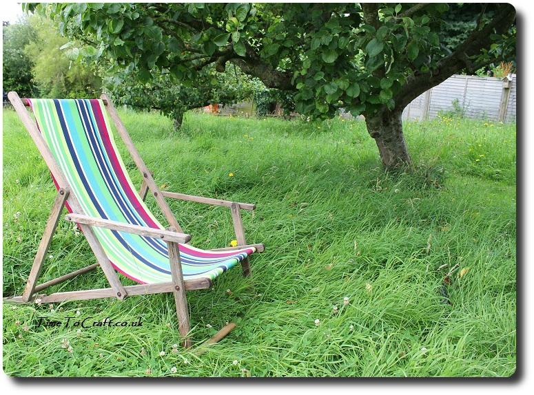 deckchair in the orchard